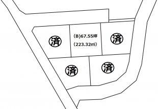 金屋土地区画図(㎡記入)